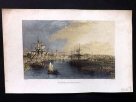 Allom 1835 Hand Col Print. Stockton on Tees